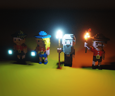 voxel characters